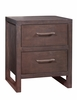Ligna - Tribeca 2 Drawer Nightstand in Graphite - 9322 GR