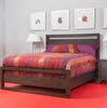 Ligna - Tribeca Complete Queen Panel Bed in Graphite