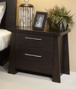 Ligna - Zen 2 Drawer Nightstand in Ebony - 8122 EB