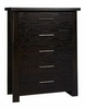Ligna - Zen 5 Drawer Chest in Ebony - 8124 EB