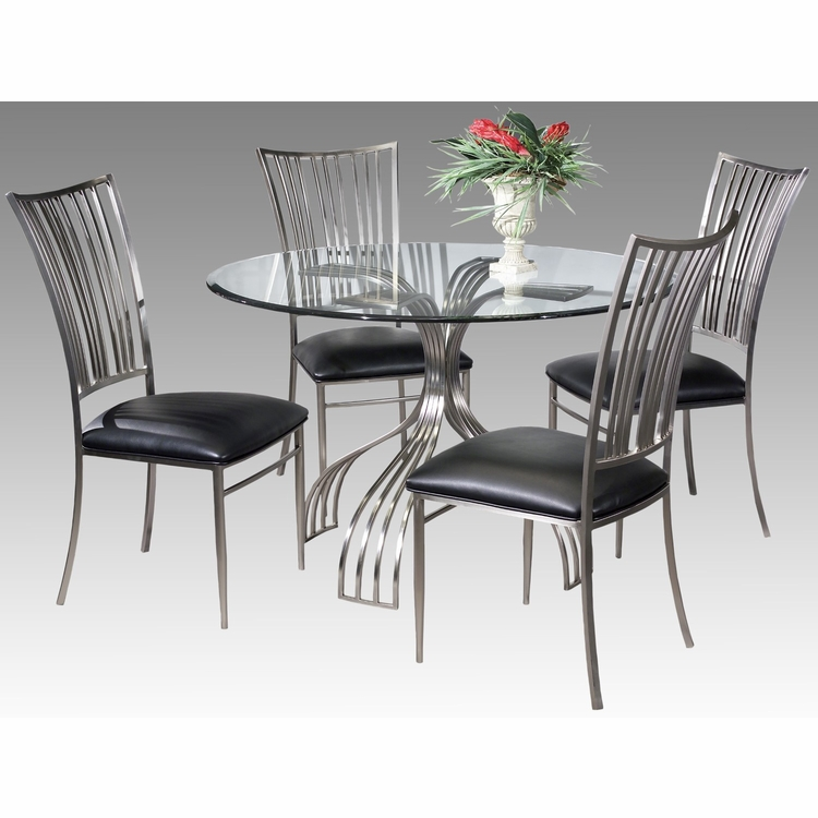 Chintaly - Ashtyn 5 Pieces Dining Set Table And 4 Side Chairs - ASHTYN-5PC