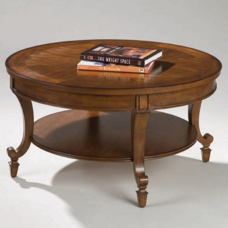 Magnussen Home Cranfill Round Cocktail Table: Aidan Wood Round Cocktail Table