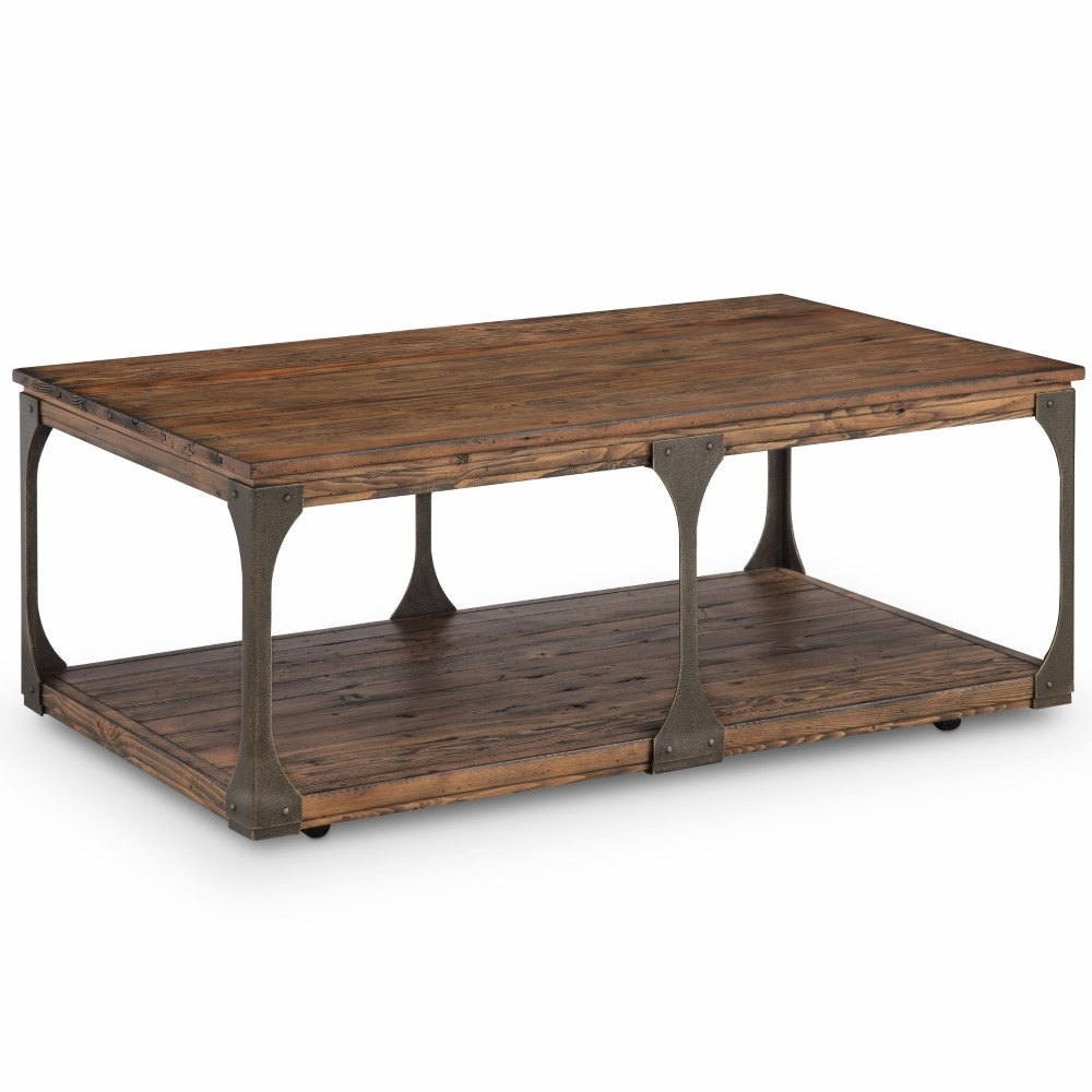 - Magnussen - Montgomery Industrial Reclaimed Wood Coffee Table