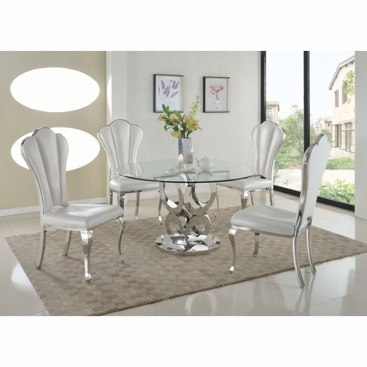 Chintaly - Raegan 5 Pieces Dining Set Table With 4 Side Chairs - RAEGAN-5PC