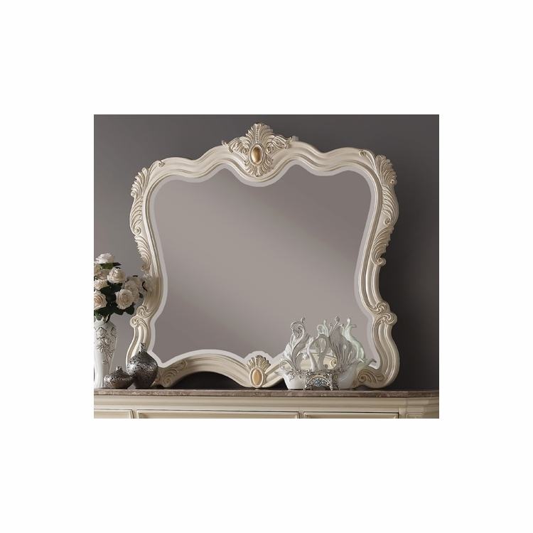 Meridian Furniture - Marquee Pearl White Mirror - Marquee-M