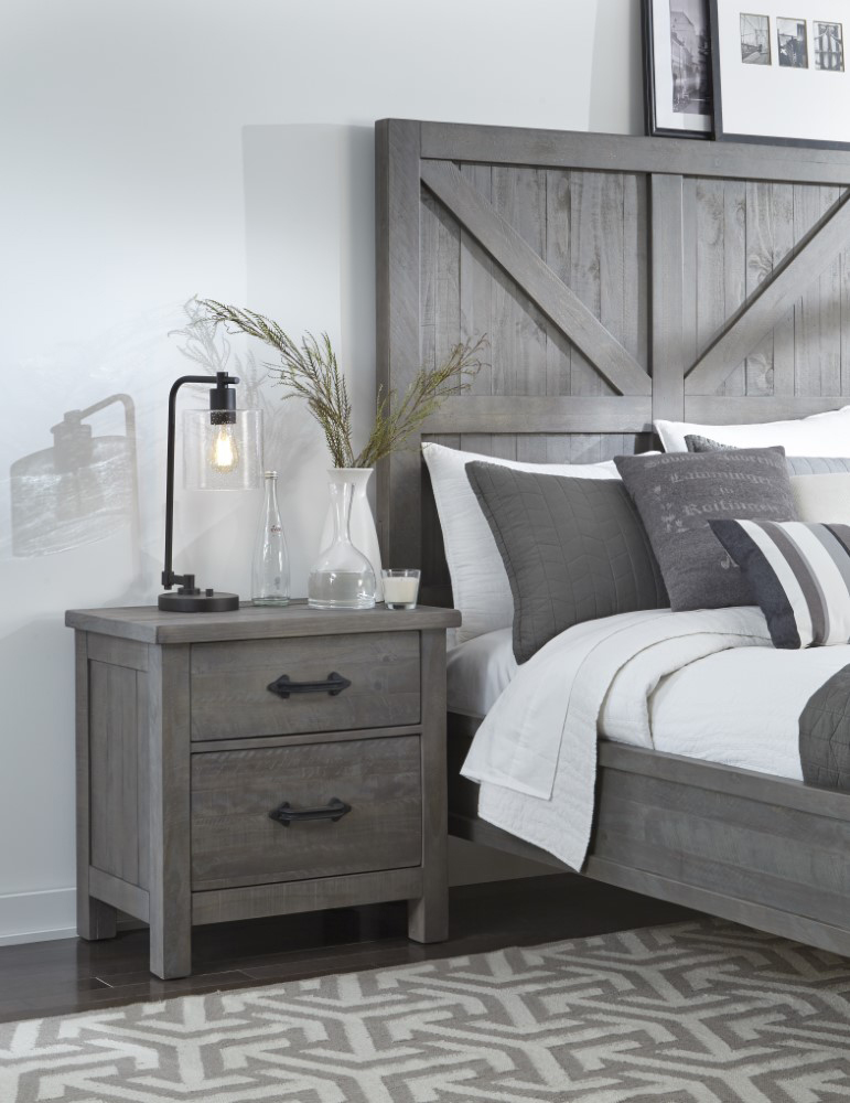Modus Furniture - Austin Two Drawer Solid Wood Nightstand in Rustic ...