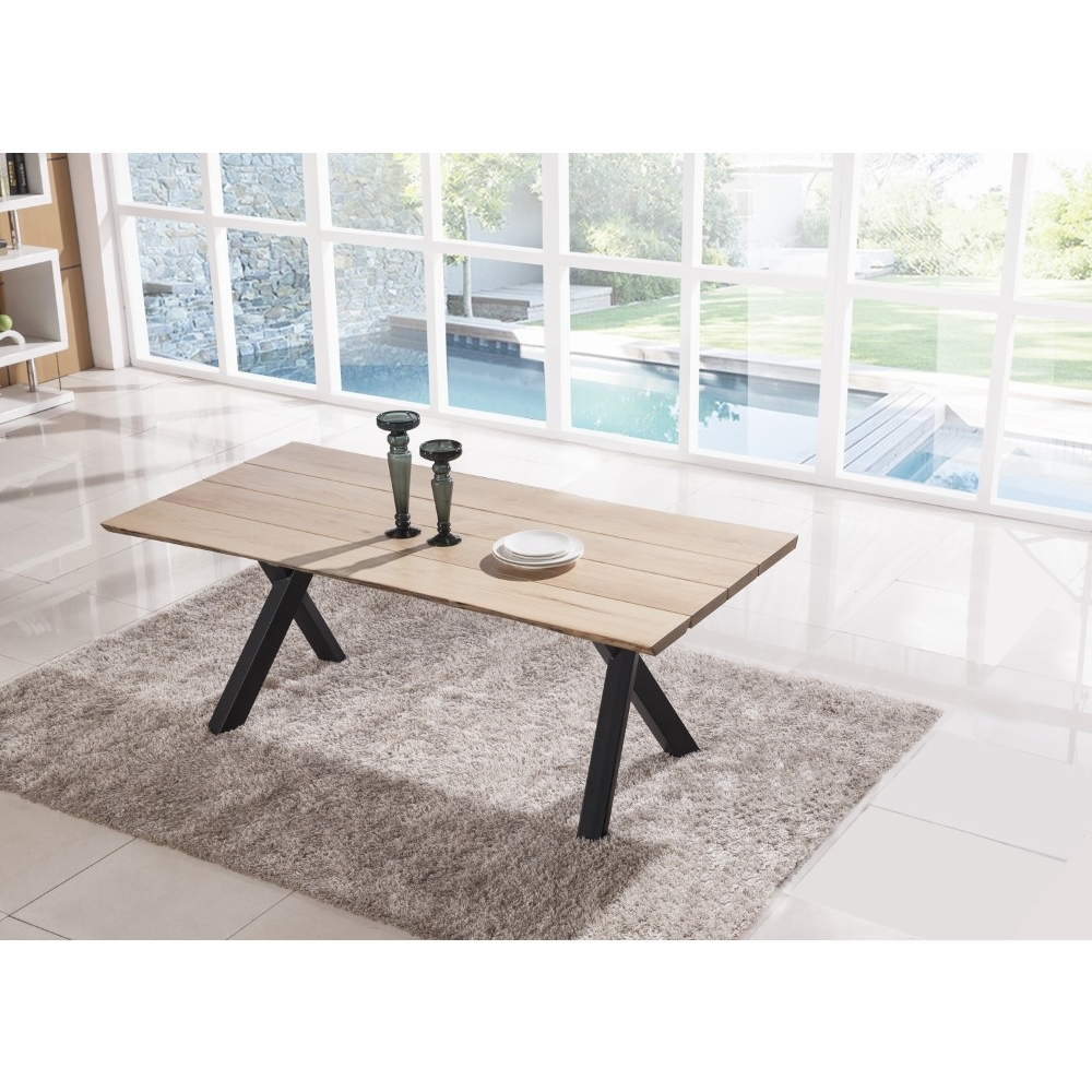 Modus Furniture Live Edge Solid Wood Rectangular Dining Table In Natural Ash 9ln461l