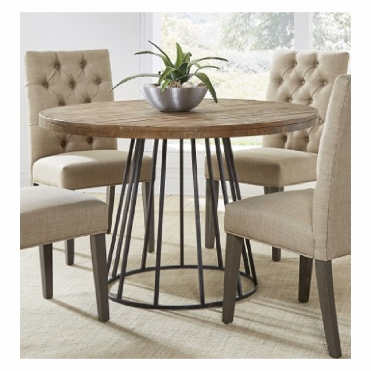 Modus Furniture Mayfair Industrial Round Dining Table In
