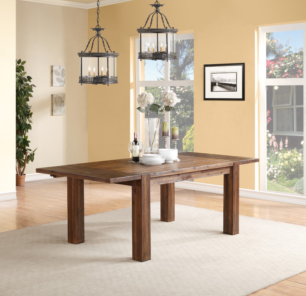 50 Bold And Inventive Dining Rooms With Brick Walls: Meadow Solid Wood Extending Dining Table