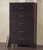 Modus Furniture - Nevis Five Drawer Chest in Espresso - NV2384