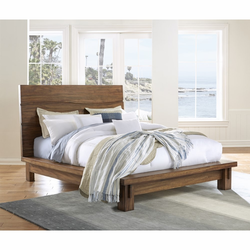 quality design dfaca c3a84 Modus Furniture - Ocean King-size Solid Wood Platform Bed in Natural Sengon  - 8C79P7