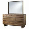 Modus Furniture - Ocean Six Drawer Solid Wood Dresser and Mirror in Natural Sengon - 8C7982_8C7983