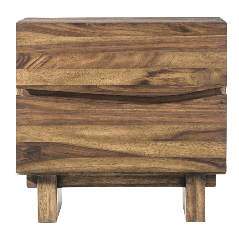 Modus Furniture Ocean Two Drawer Solid Wood Nightstand