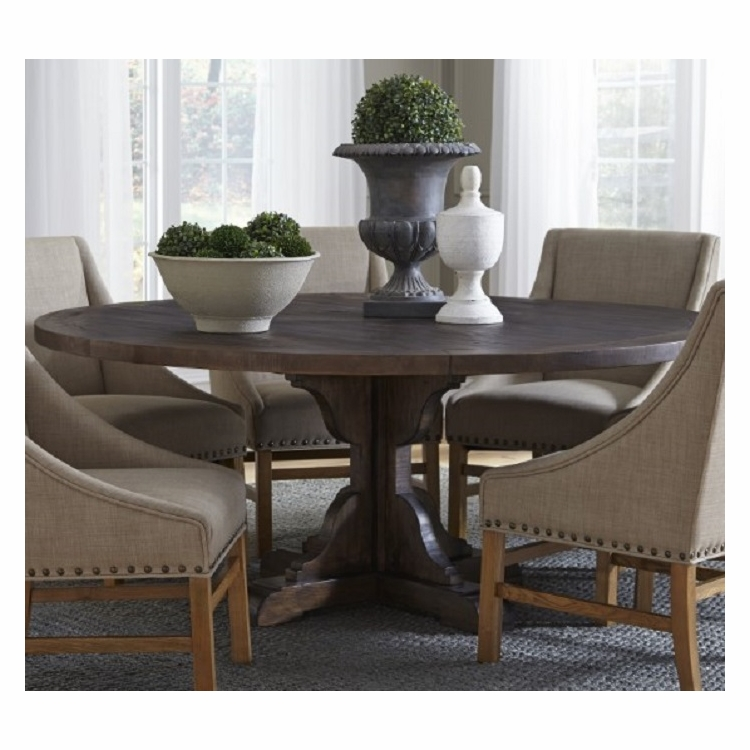 Modus Furniture Philip Solid Wood Round Dining Table In Burnished