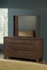 Modus Furniture - Portland Solid Wood Dresser and Mirror - 7Z4882_7Z4883