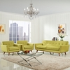 Modway - Engage Armchairs and Sofa Set of 3 in Wheatgrass - EEI-1345-WHE