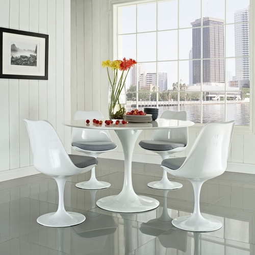 Modway - Lippa 5 Piece Dining Set in Gray - EEI-854-GRY