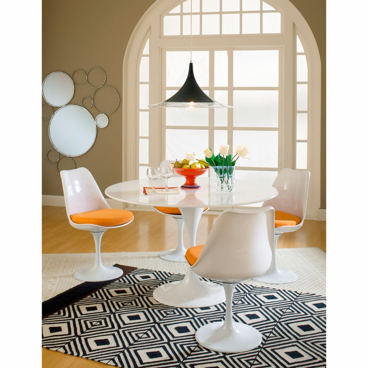 Modway - Lippa 5 Piece Dining Set in Orange - EEI-854-ORA