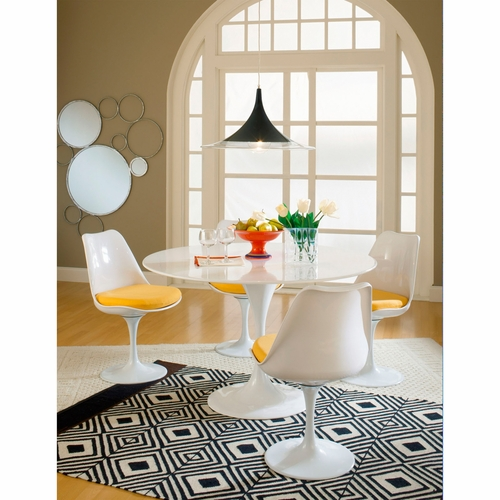 Modway - Lippa 5 Piece Dining Set in Yellow - EEI-854-YLW
