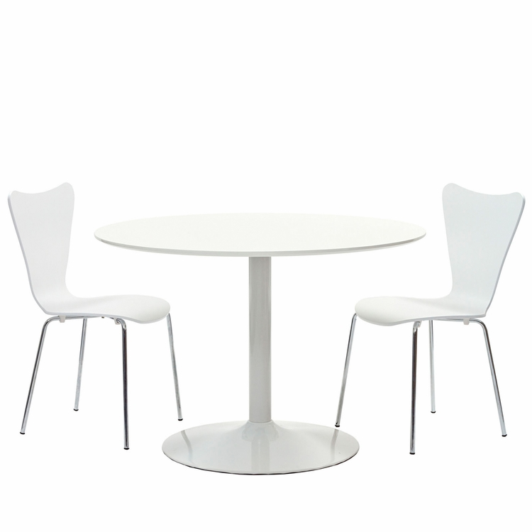 Modway - Revolve 3 Piece Dining Set in White - EEI-887