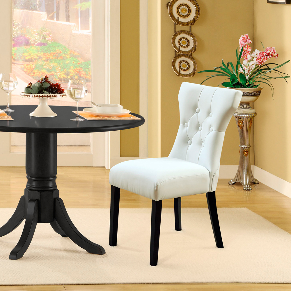 Modway - Silhouette Dining Chair in White Set of 2 - EEI-911-WHI