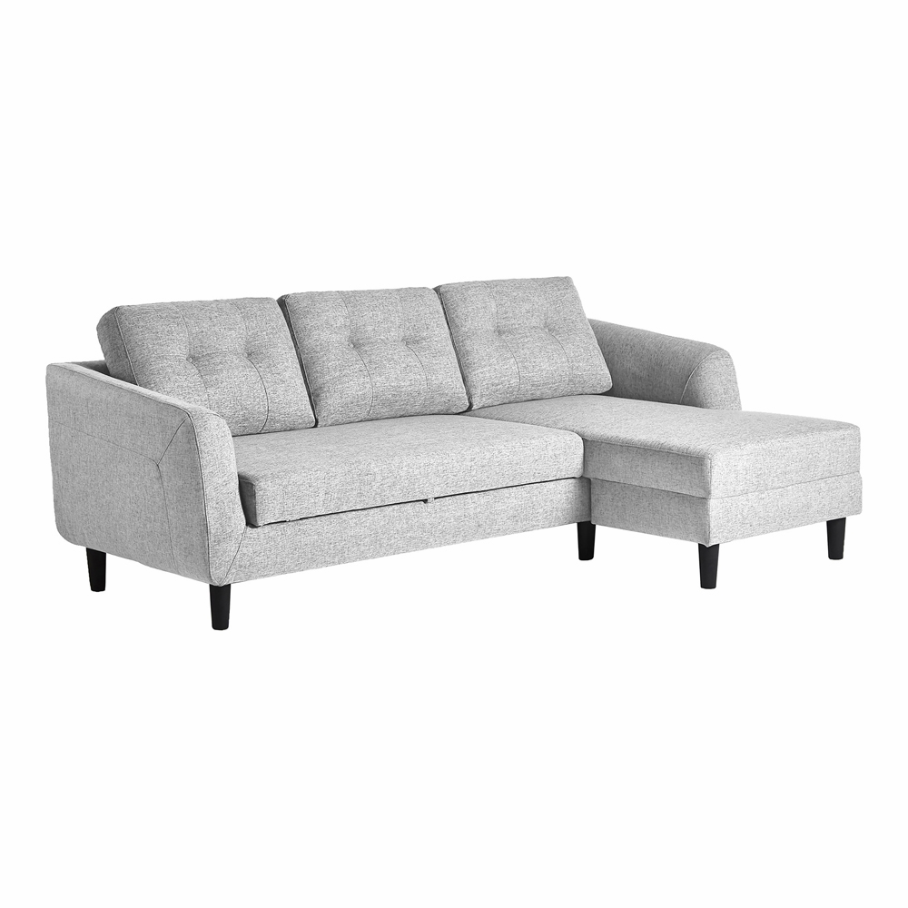 Astounding Moes Home Belagio Sofa Bed With Chaise In Light Grey Right Mt 1019 29 R Machost Co Dining Chair Design Ideas Machostcouk