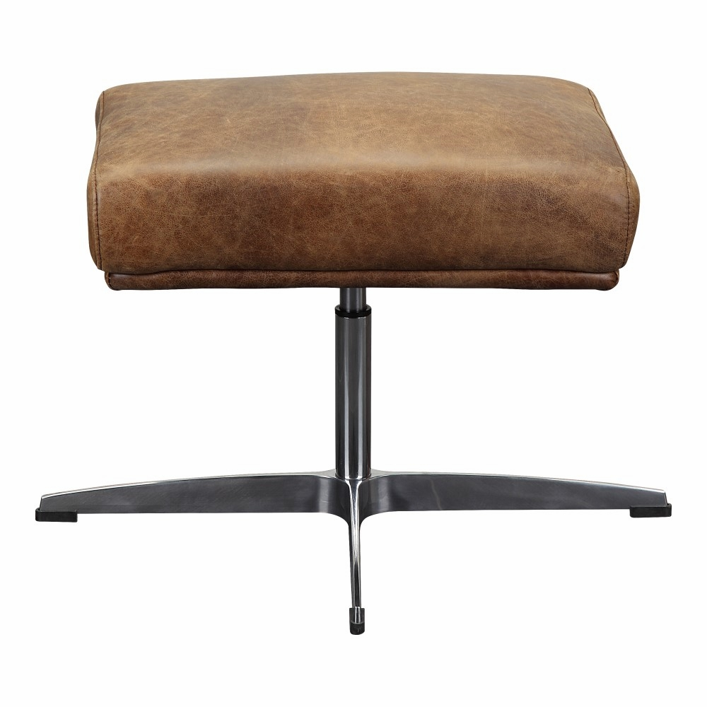 Peachy Moes Home Faris Leather Ottoman In Light Brown Pk 1092 14 Evergreenethics Interior Chair Design Evergreenethicsorg
