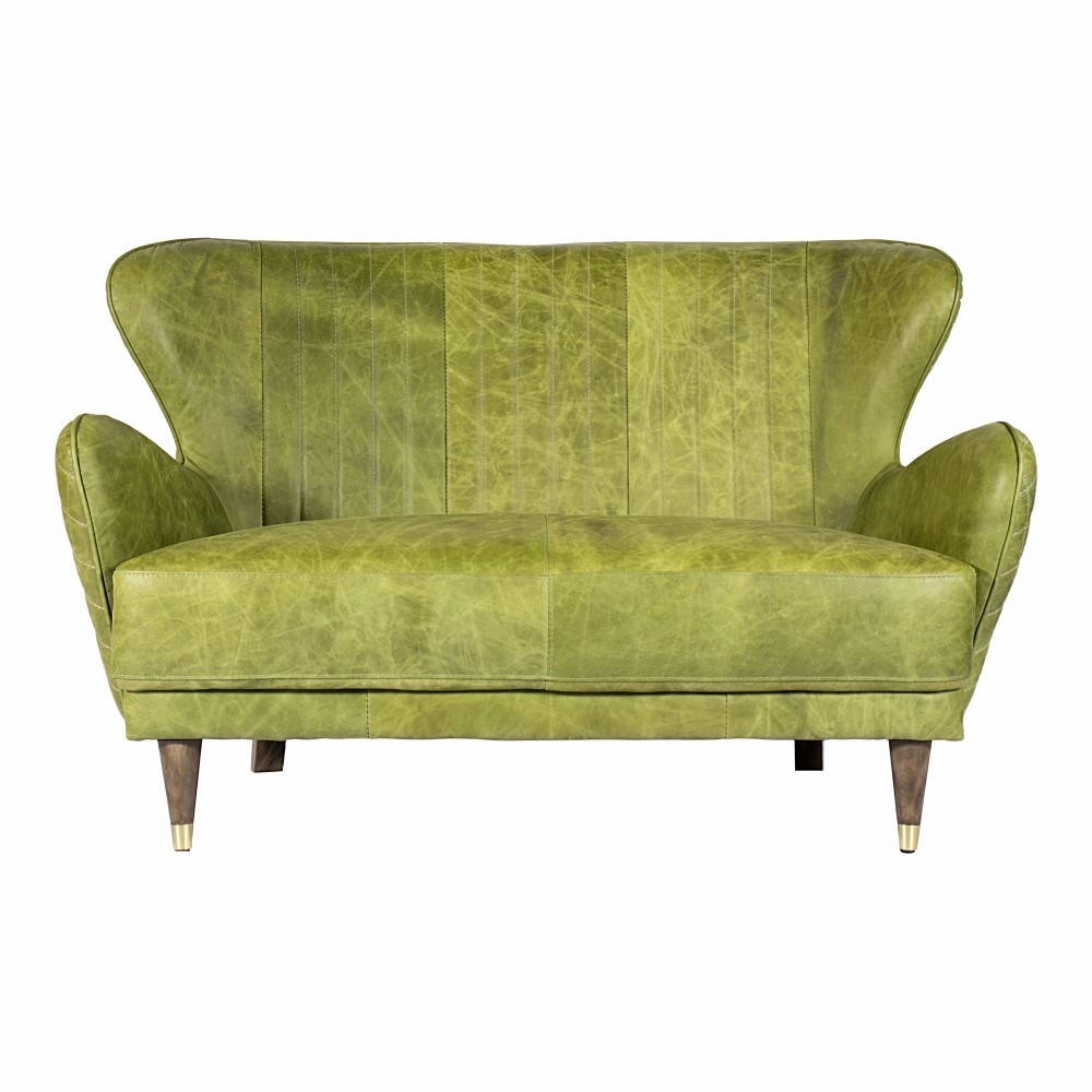 Enjoyable Moes Home Keaton Leather Loveseat Emerald Pk 1079 27 Alphanode Cool Chair Designs And Ideas Alphanodeonline