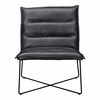 Moe's Home - Naxos Leather Chair in Grey - QN-1011-15