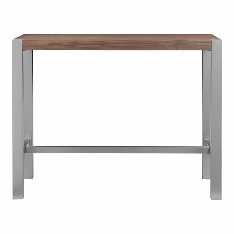 Moe's Home - Riva Countertable in Walnut - ER-1079-03