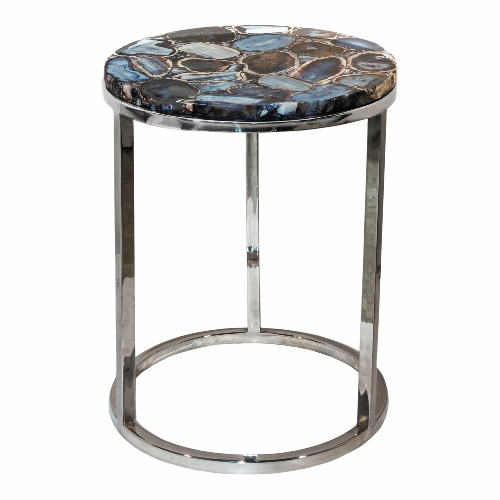 Moe S Home Shimmer Agate Accent Table Pj 1003 30
