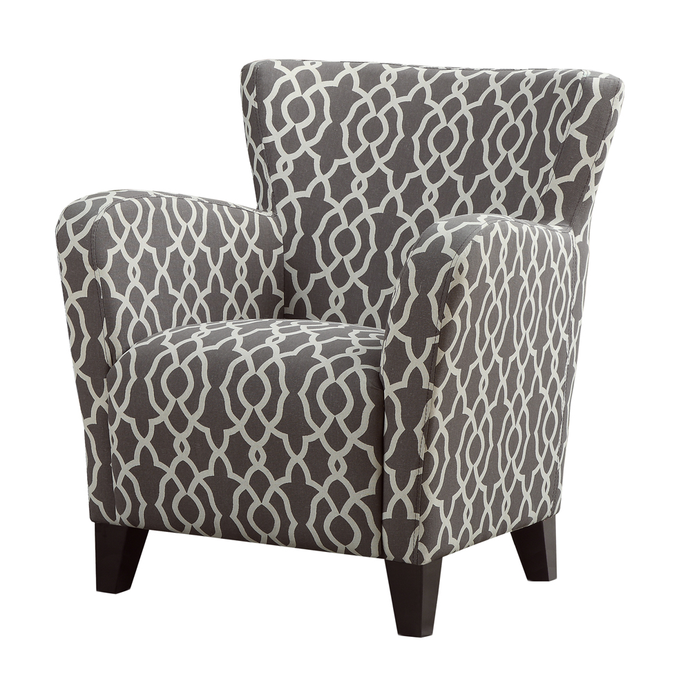 Monarch Specialties Accent Chair Brown Bell Pattern