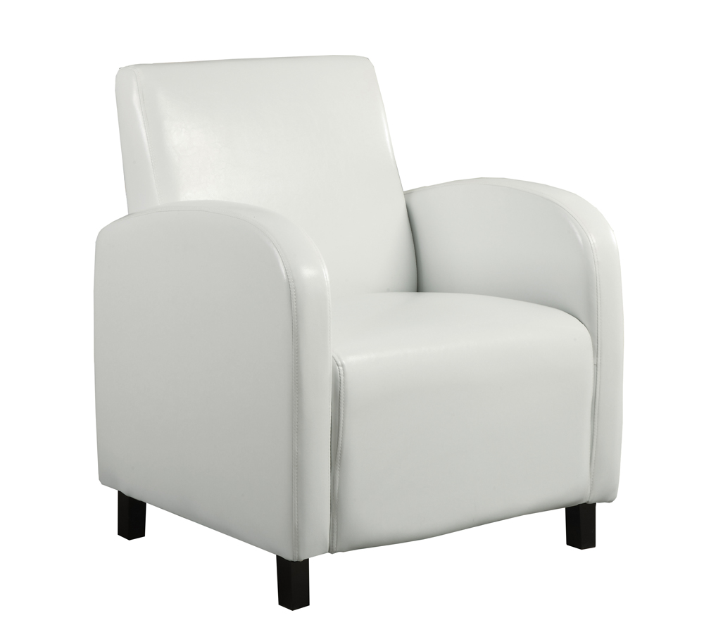 Monarch Specialties Accent Chair White Leather Look