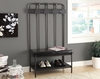 Monarch Specialties - Bench 60H Charcoal Grey Metal Hall Entry - I-4545