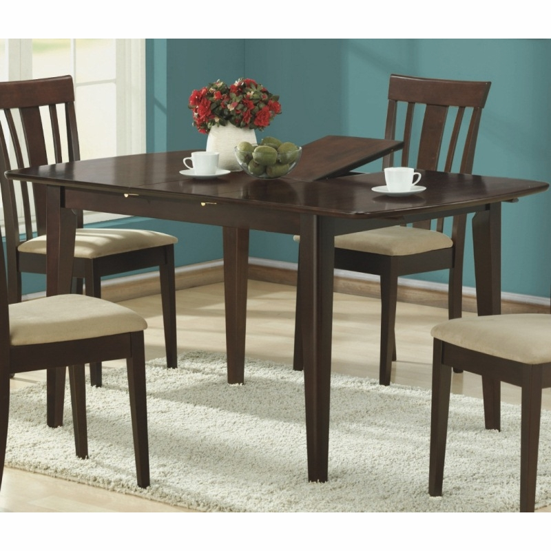 Monarch Specialties Cappuccino 36 X 60 Dining Table 12 Butterfly Leaf I 1897