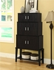 """Monarch Specialties - Cappuccino 55""""H Stacking Style Storage Cabinet - I 2547"""
