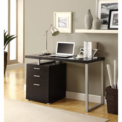 Monarch Specialties Cappuccino Hollow Core Left Or Right Facing 48 L Desk I 7026