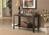 Monarch Specialties - Cappuccino / Marble Top Sofa Console Table - I 7983S