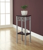Monarch Specialties - Cappuccino / Silver Metal Plant Stand - I 3074
