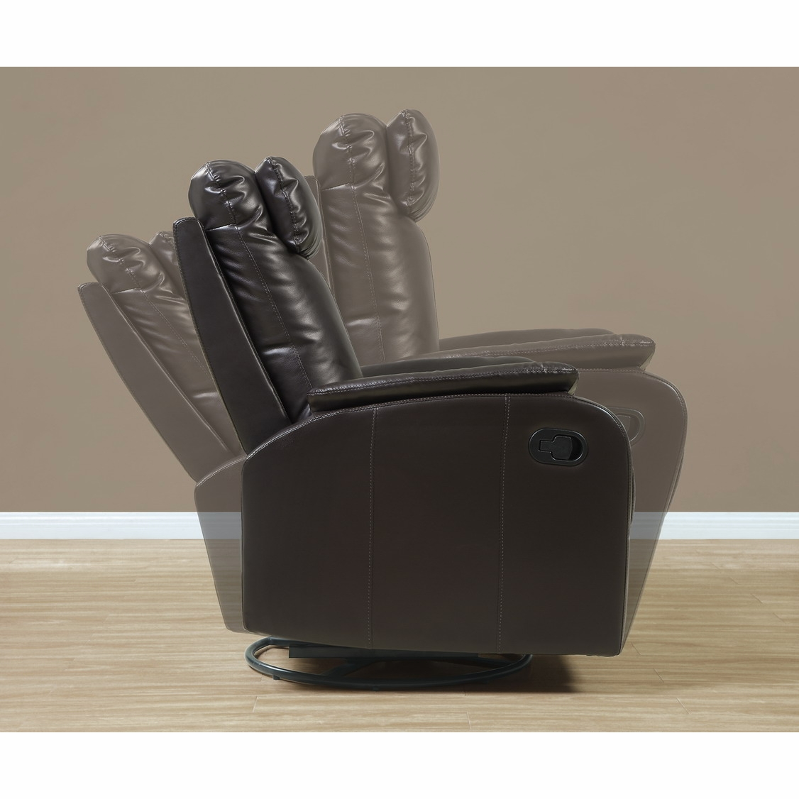 Pleasant Monarch Specialties Dark Brown Bonded Leather Swivel Rocker Recliner I 8081Br Bralicious Painted Fabric Chair Ideas Braliciousco