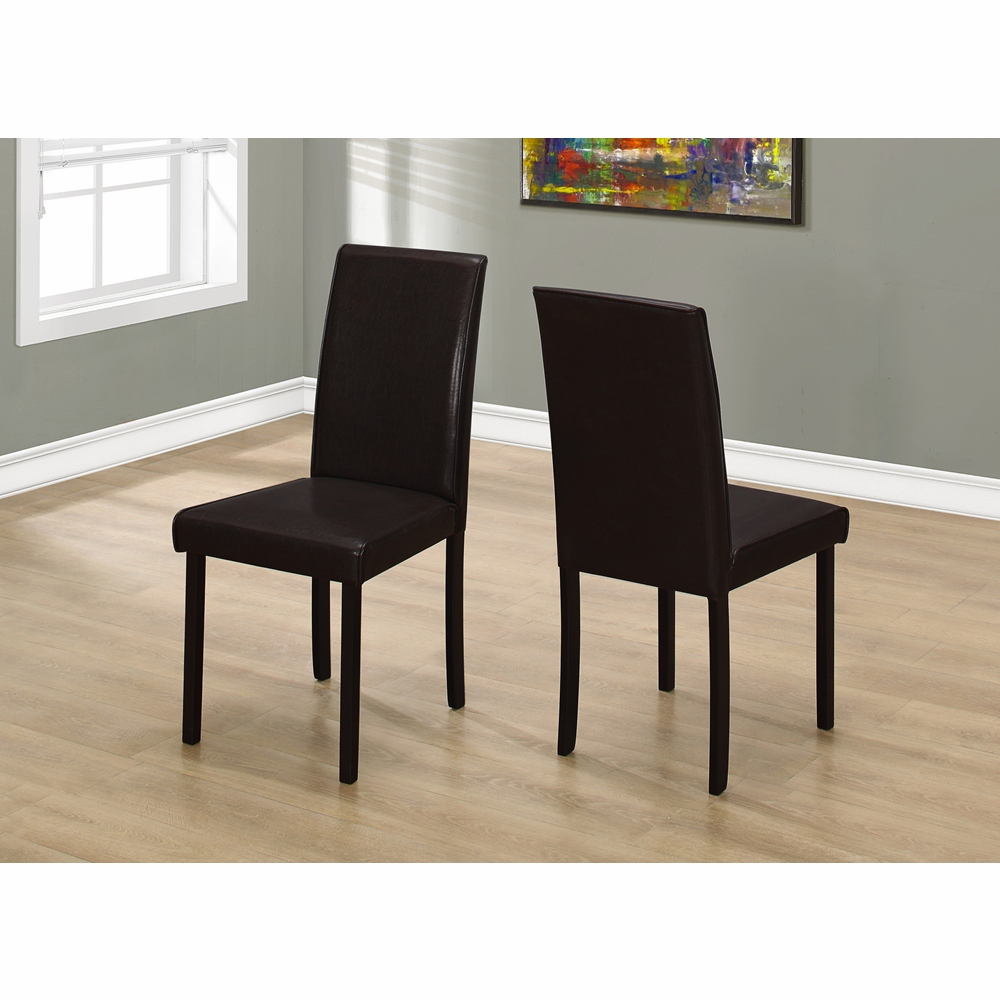 Tremendous Monarch Specialties Dining Chair 2 Pieces 36H Dark Brown Leather Look I 1172 Creativecarmelina Interior Chair Design Creativecarmelinacom