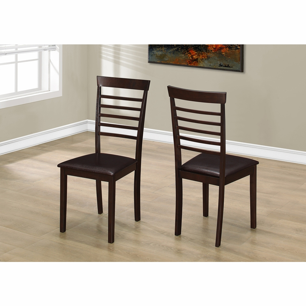 Monarch Specialties Dining Chair 2 Pieces 37h Cappuccino