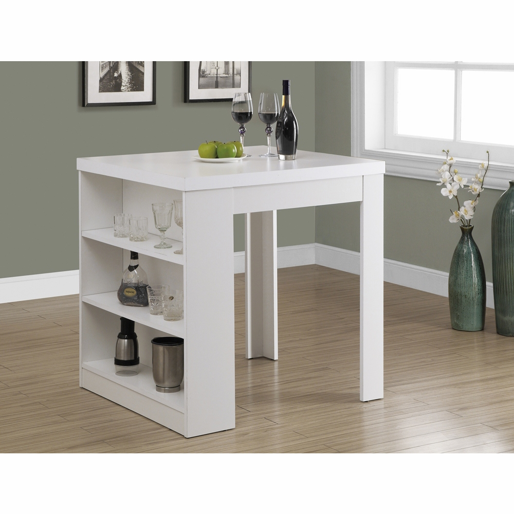 Monarch Specialties Dining Table 32x 36 White Counter Height I 1345
