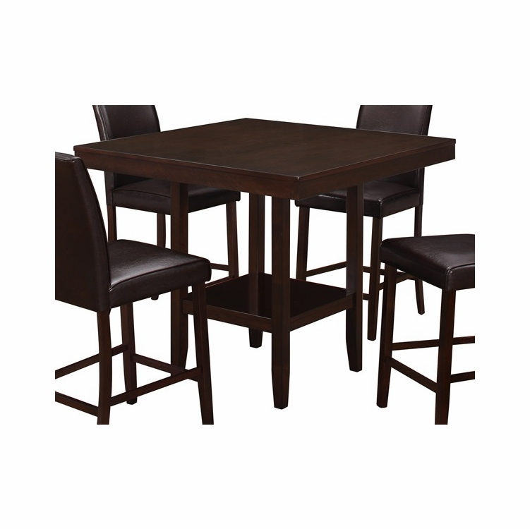 Monarch Specialties Dining Table 42x 42 Cappuccino Counter Height I 1900