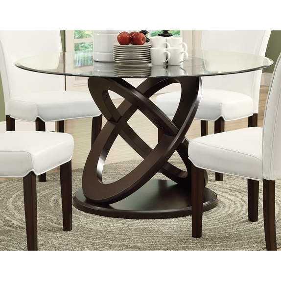3bdb4b7b6628 Monarch Specialties Dining Table 48dia Espresso With Tempered. Monarch 48  Round Glass Top ...