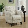 Monarch Specialties - Vintage French Fabric Accent Chair - I 8007