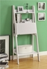 "Monarch Specialties - White 61""H Ladder Bookcase With A Drop-Down Desk - I 7040"