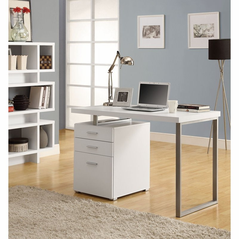 Monarch Specialties White Hollow Core Left Or Right Facing 48 L Desk Hover To Zoom