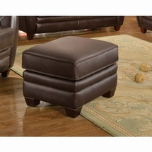 Ottomans by Leather Italia Usa