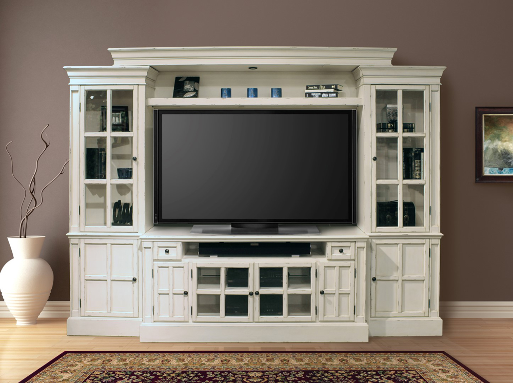 Wall Unit In Antique Vintage White Cha Hover To Zoom